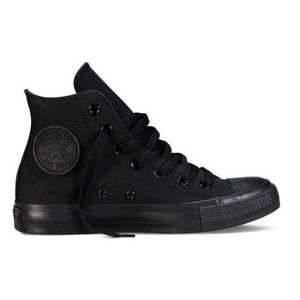 Converse / All Black High Top Sneakers